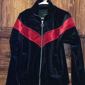 Velvet black and red jacket